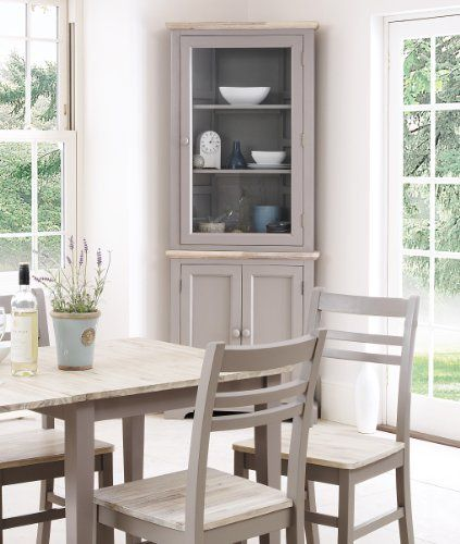 Florence Corner Display Cabinet Dresser Dove Grey Amazon