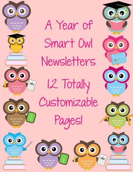 Whooo has an owl themed classroom? 12 Smart Owl newsletter templates for your families. $: Classroom Theme, Classroom Owl, Classroom Newsletter, Owl Classroom, Owl Theme Classroom, Smart Owl, 12 Smart, Newsletter Templates, Owl Newsletter