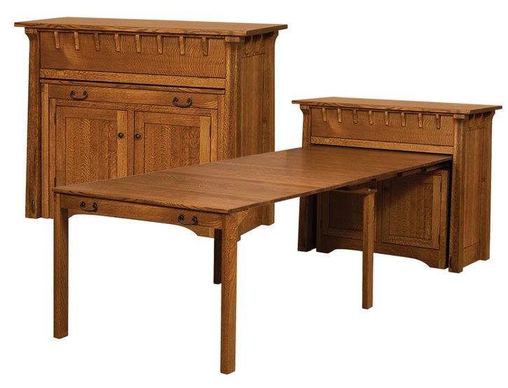 Small Manitoba Pullout Table Manitoba Buffet W Pullout