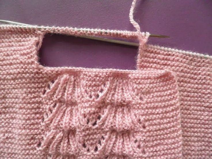 ARTES-ANAS: CHAQUETA BEBÉ, CON PUNTO HUELLA DE OSO, MUESTRAS #tricot #knit baby
