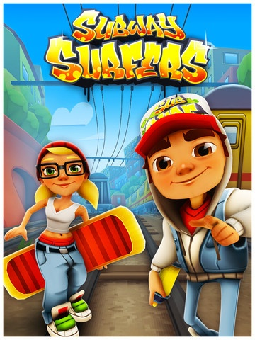 Strictly connected to the tablet there's Subway Surfers. I've played it a lot on my friend's phone, but now that I can play it on my tablet I'm addicted