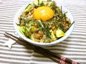 朝食にも♡アボカド納豆丼
