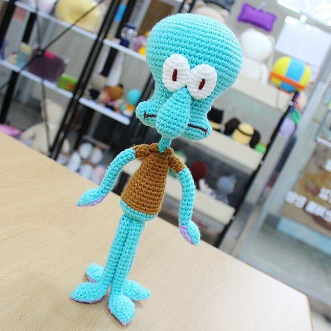 #스펀지밥 친구 #깐깐징어 #징징이 손뜨개인형완성! #spongebob#spongebobamigurumi #amigurumi #squidwardtentacles #아미구루미#손뜨개인형 by sewing_mori