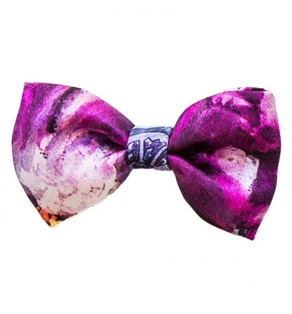 Fundita de par cu imprimeu floral si dantelat-Tie-Me-Up
