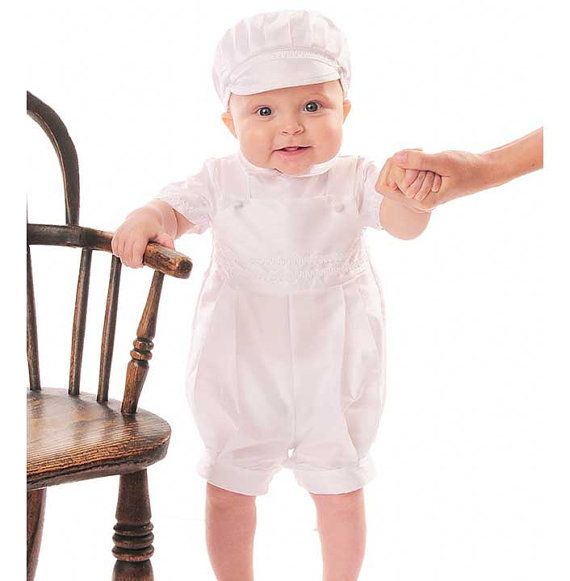 Baby Boys Christening Outfit - Infant Baptismal Dove Embroidered Tail Vest 5pc Short Set All White $ 29 95 Prime. out of 5 stars Petit Ami. Christening Knicker with Hat. from $ 29 00 Prime. out of 5 stars Classykidzshop. White Boy Baptism Outfit B4. from $ 20 out of 5 stars