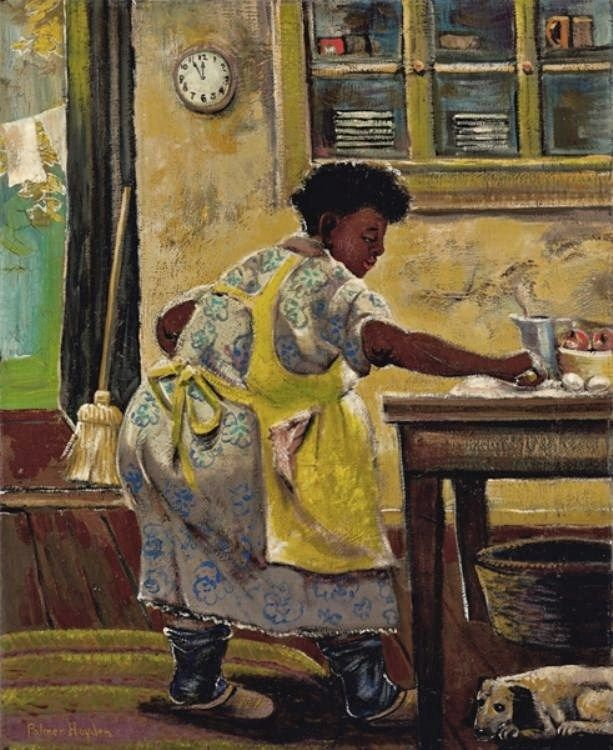 Palmer Hayden (American artist, 1890-1973) Makin' Pie c 1940   It's About Time: 1934 American Art