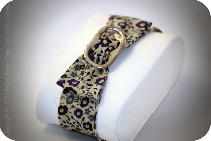 Bracelet noeud languette canette véritable Liberty Fairford bleu