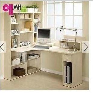 Esquina escritorio escritorio de la computadora combinación librería estantería de mesa de escritorio de
