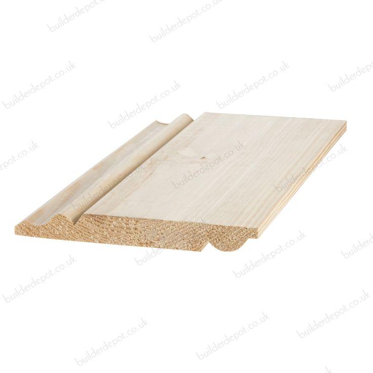 Reversible Skirting Board Torus Ogee 25mm x 175mm Sold Per Metre
