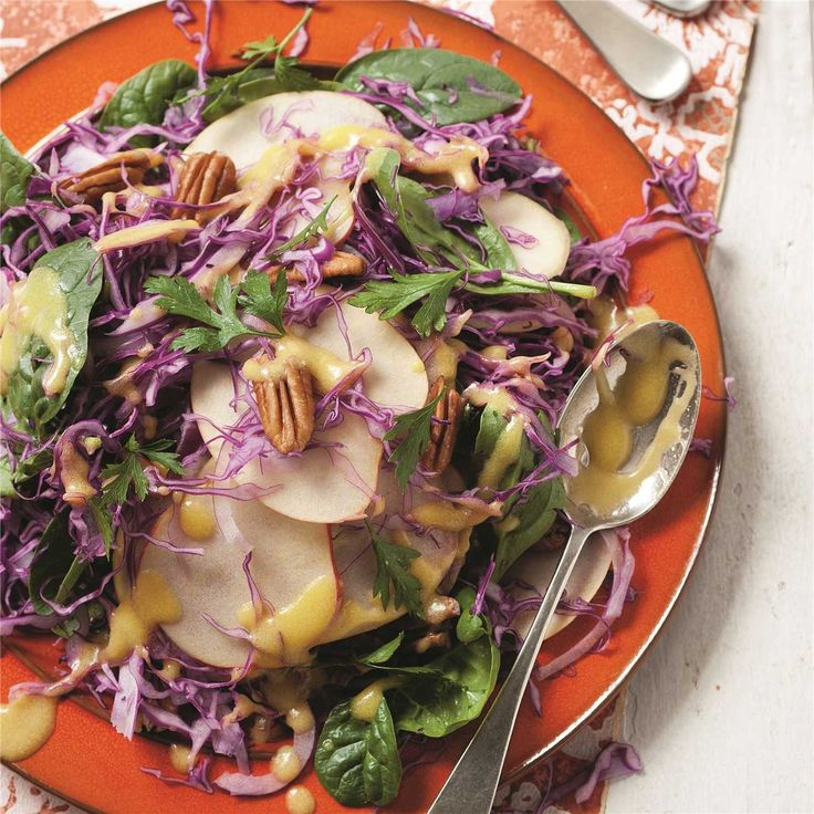 Apple, Cabbage & Spinach Salad