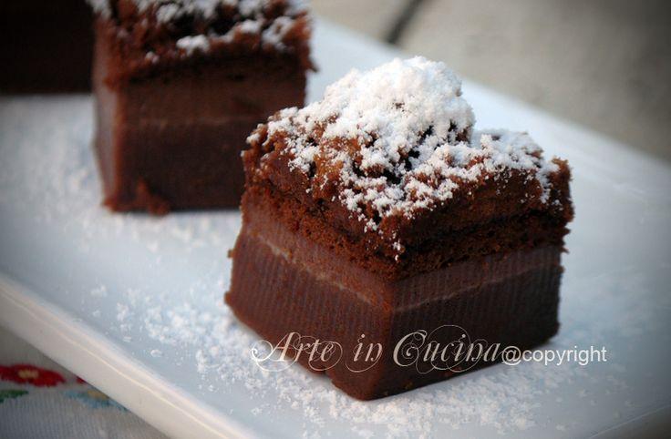 Torta magica al cacao e caffè senza burro