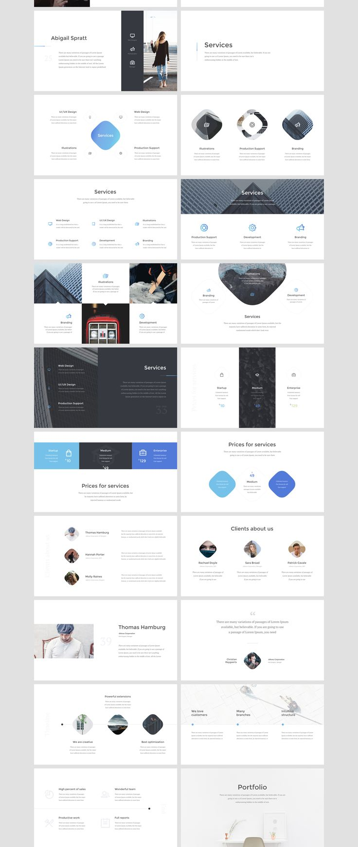 Athena is a multipurpose keynote and powerpoint presentation. When creating this presentation, I focused on ease of use for those who will be buying this presentation. Athena is suitable both for companies and for designers! You can easily make any adjustments, from changing color to inserting the images you want. Also, please note that the animation for keynote and for powerpoint have differences!