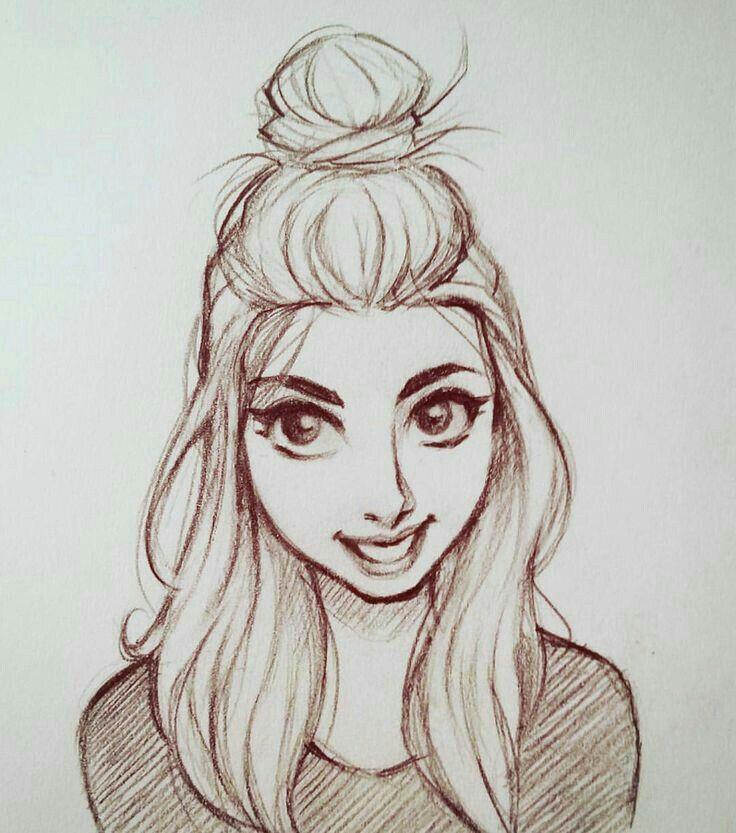 Картинка девочка срисовать