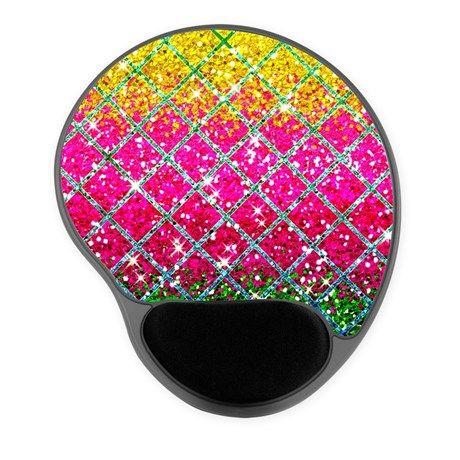 Glitter Pink Snakeskin Mousepad