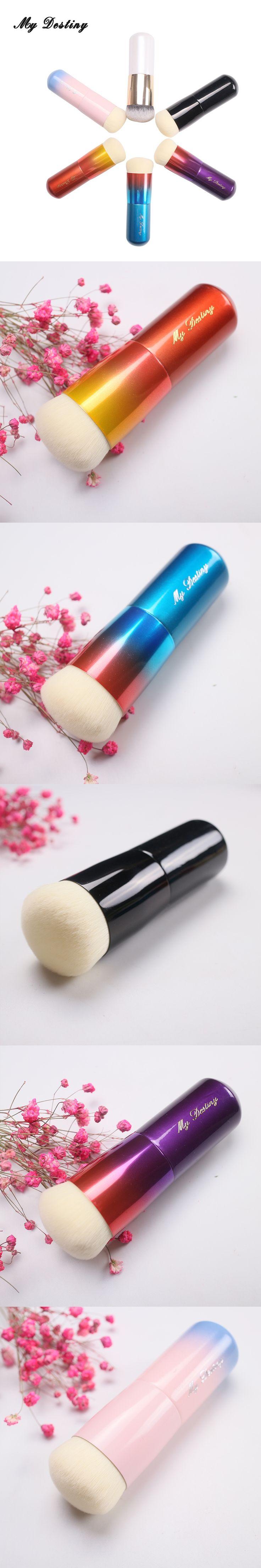 MY DESTINY Colorful Rainbow Kabuki Foundation Brush Make Up Makeup Brushes Kwasten Base Pincel Maquiagem Brochas Maquillaje