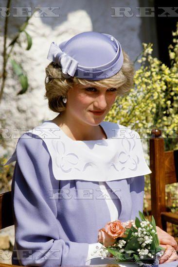 April 19, 1985 Princess Diana at Olbia Airport, Sardinia