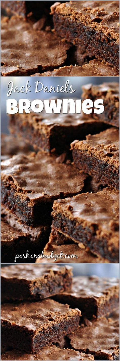 Jack Daniels (Inspired) Brownies- easy recipe to follow!