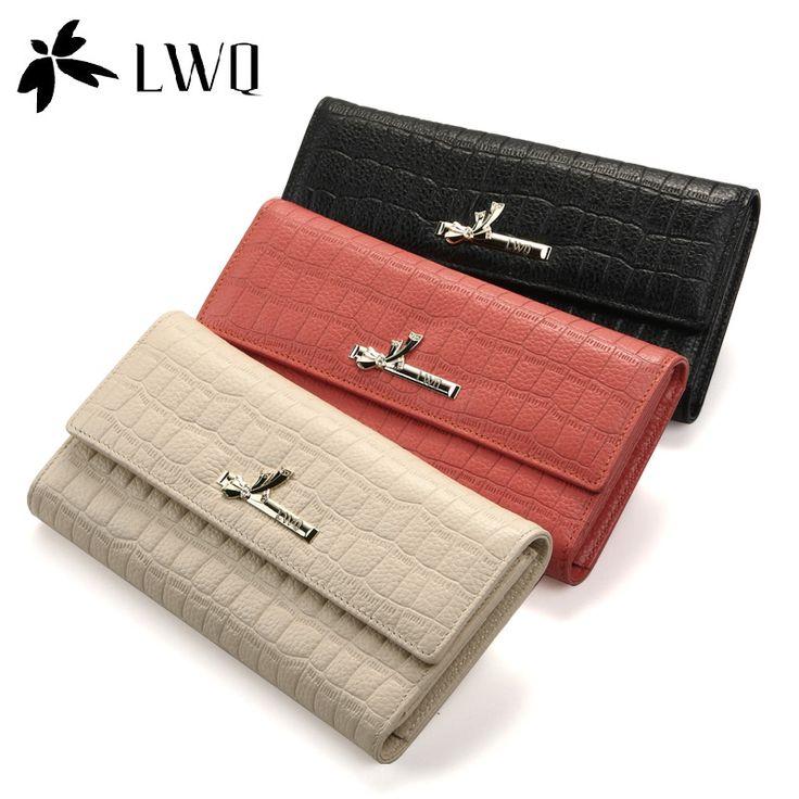 Дамская бумажник стандартные кошельки сумки женские кошельки горячая распродажа женщины Lwq шаблон день клатч женский дизайн коровьей бумажник кошельки