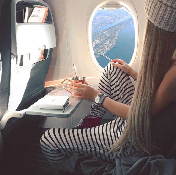 Foto no avião