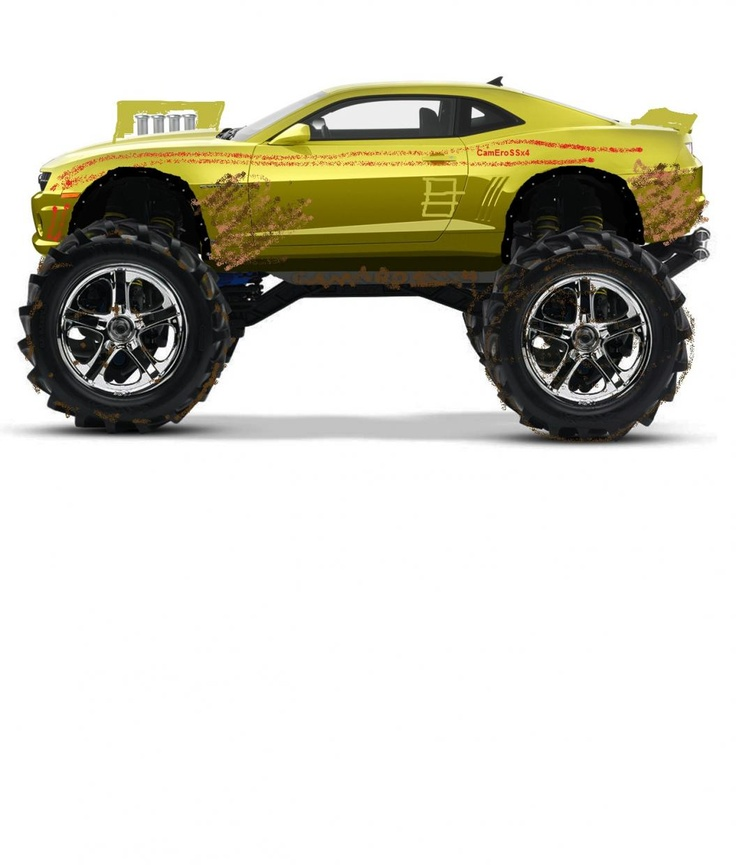 Camaro Monster Truck >> Chevy Camaro Monster Truck 4x4 Trucks Rvs Pinterest Monster
