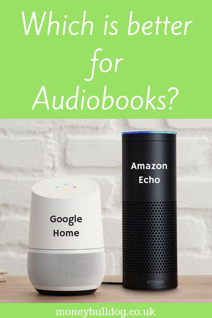 Google Home or Amazon Echo – Which Is Better for Audiobooks?