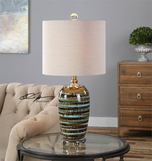 An Abstract Striped Design Adds Charming Style To This Laurendine Ceramic Table Lamp Making It The Perfect Addition Your Home