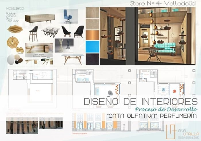 #Proyecto diseño de interiores y decoración comercial de  #cataolfativa perfumería por Ana Utrilla Info@anautrilla.com