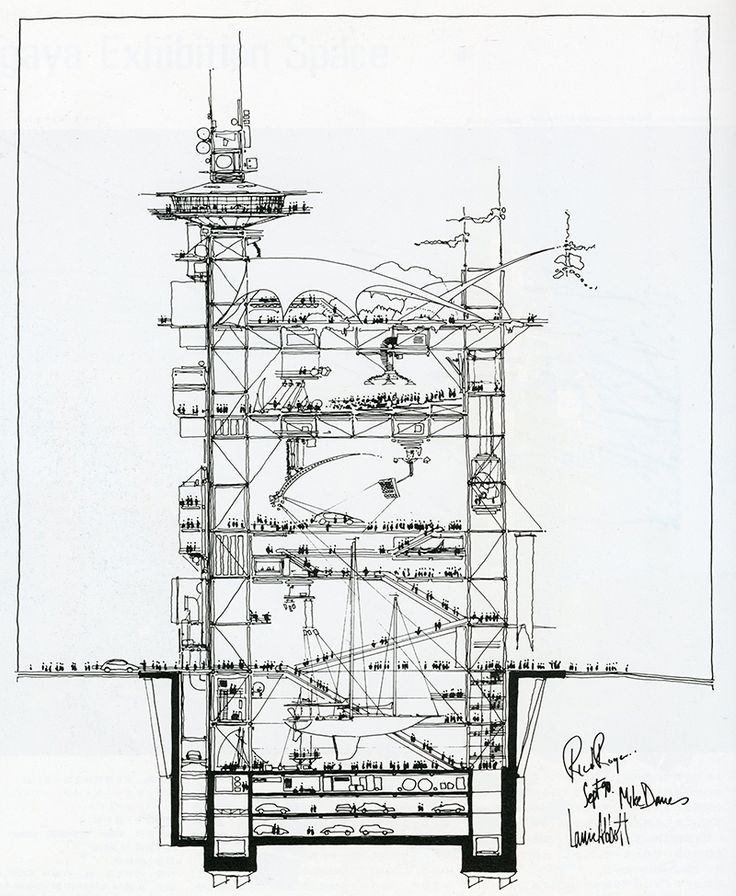 Beautifully drawn. Richard Rogers. Japan Architect 7 Summer 1992: 222