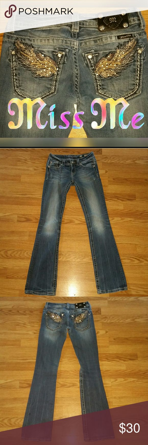 """Miss Me Jeans Sz 26..34"""" inseam Check out my other Miss Mes..Bundle and save $$ Miss Me Jeans Boot Cut"""