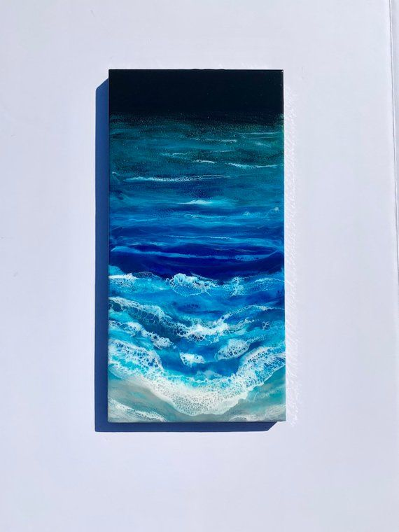 Seascape Painting, Resin Painting, Ocean Painting, Ocean Art, Acrylic Painting, Abstract Seascape, Ocean Painting, Coastal Wall Decor, GiftLynn and Jessica