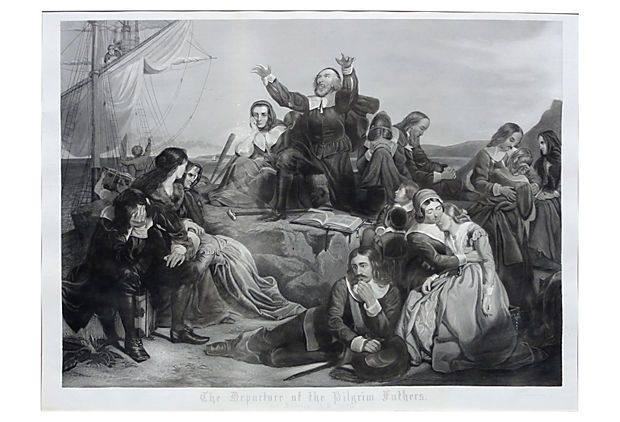 Departure of our Pilgrim Fathers on OneKingsLane.com