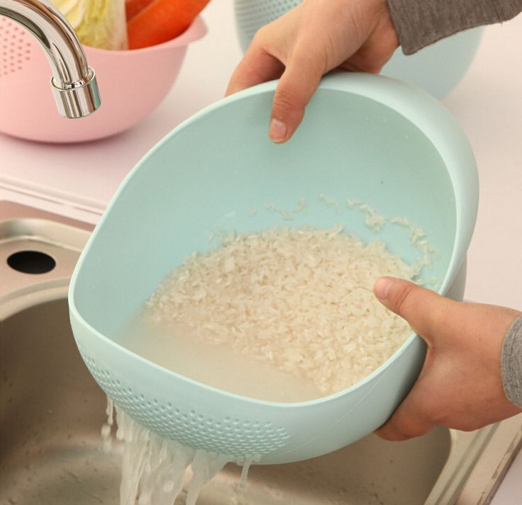 Cool Waschen Reis Sieb Die Waren f r K che Kochen Werkzeuge Obstkorb Kunststoff Reinigen Reis Maschine Gem se Becken