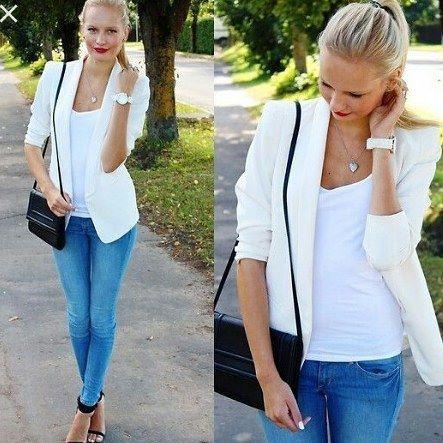 Febre da estação,  os blazers/casaquinhos brancos, que dão um visual clean, estão com tudo. Esse da H&M é o nosso preferido. Fique atenta a um dos nossos vídeos em que mostraremos o nosso xodó! #meucloset #fashion #moda #modafeminina #estilo #style #classico #blazer #casaquinho