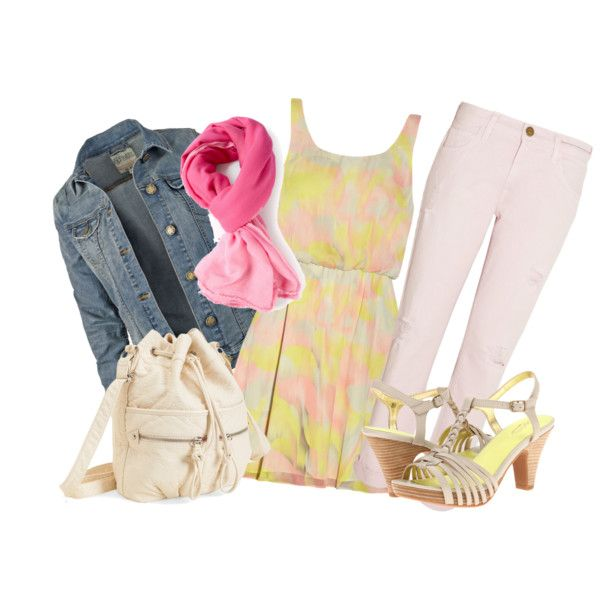 Pink denim, created by mizzemonita on Polyvore