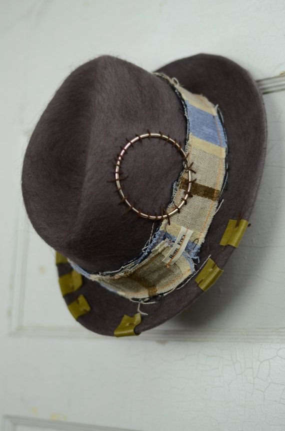 Fedora Vintage Camel Hair and Wool  Mens Fedora/ by HotelEtica, $65.00