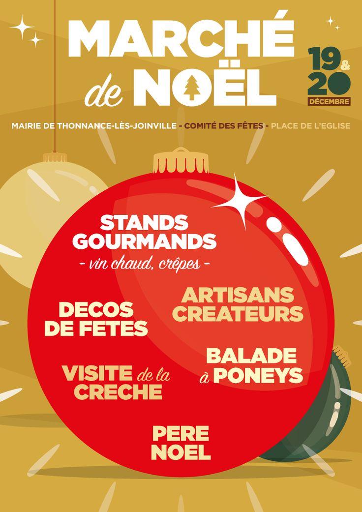 Exemple d'affiche // Marché de Noël   Three Koma - Graphiste freelance - Rouen