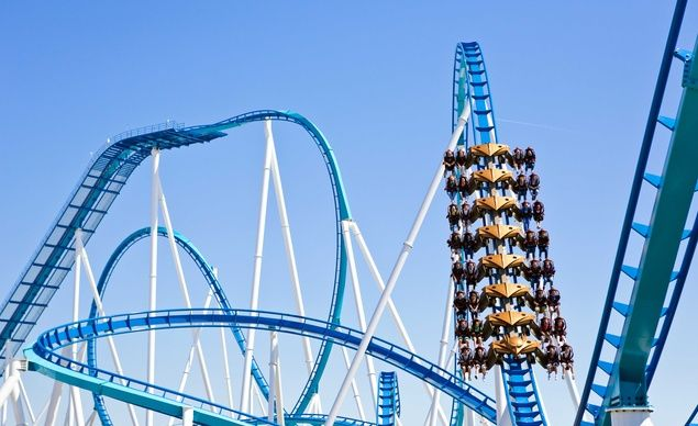 Debuting at Cedar Point in May of this year, Gatekeeper has become the longest wing-style roller coaster at 4,164 feet with the longest vertical drop of any wing-style roller coaster--a whopping 164 feet! (From: Photos: Best New Theme Park Rides)