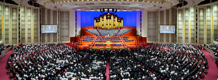 Learn more about the LDS Conference Center at Temple Square in Salt Lake City, where twice a year the Church of Jesus Christ of Latter-day Saints holds General Conference.