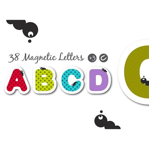 Letras magnéticas 40 piezas