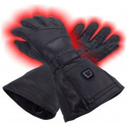Heated leather gloves