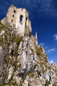 Ruined chapel of a Beckov castle situated on a steep 50 meters high clicff in the village Beckov which is situated in the west of Slovakia in Trencin region. The Castle of Beckov is opened to public and it is definitely worth a visit.
