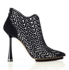 black and silver squwiggles, <3 the heel balenciaga shoes 2013