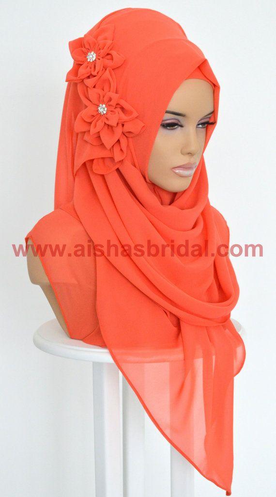 Shawl Code: AS-0038  Muslim Women Hijab Scarf by HAZIRTURBAN