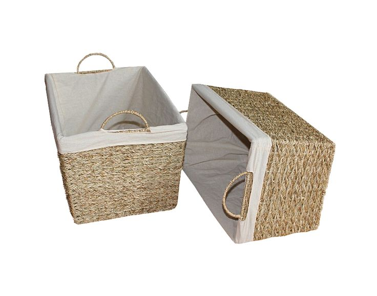 Home24h co,.ltd: S/2, S/3...Clothes Baskets Seagrass Home24h / Lined Baskets, Eco-friendly baskets - Home24h.biz