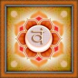 segundo  chackra nombre en sánscrito SVADHISTHANA colo naranja localizado en  la altura del pubis y el sacrol sacro