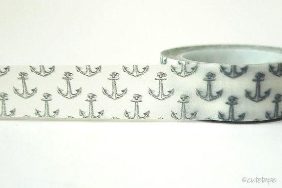 Boat Anchor Washi Tape Chugoku by PrettyTape on Etsy, $2.50