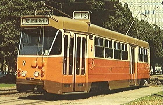 Souvenir photograph of Class Z tram (built c.1975), photo taken in 1978.
