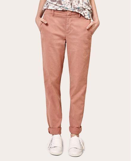 Pantalon chino ARDOISE - Couleur CANYON ROSE