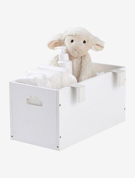 bo te de rangement sp ciale table langer blanc deco chambre b b pinterest habiller. Black Bedroom Furniture Sets. Home Design Ideas