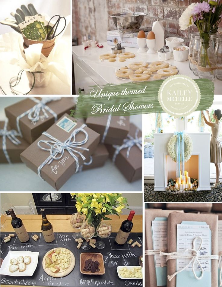 Bridal Shower Themes and Ideas garden cooking library holiday wine travel Love